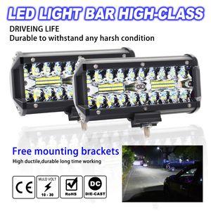 무료 배송 yentl 120W LED 워크 라이트 바 홍수 스팟 빔 오프로드 4WD SUV 운전 안개등 보트 지프 SUV 차량에 대한