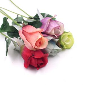5 adet / grup Ipek Lale Çiçek Kafa Ev Düğün Dekoratif Aksesuarları Simülasyon Simüle Yapay Çiçek Gerçek Dokunmatik Çiçek