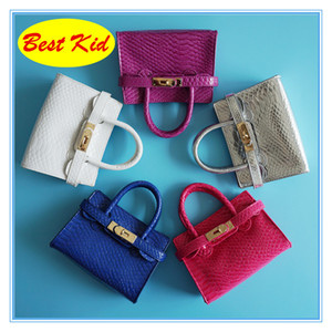 BestKid DHL Free Shipping! 2019 New Leather Handbags for Toddlers Little baby girls birthday gifts Kids Mini tote for shopping Kid BAG BK005