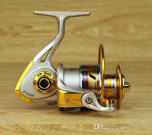 10BB Speed ​​Ratio 5,5: 1 Metal Spinning Angelrolle EF1000-7000 Ocean Sea Boat Eis Angelgerät Aluminium Angelrolle
