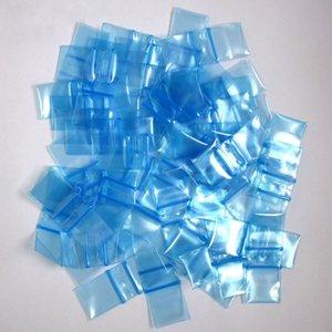 1010 Poli sacchetto di colore blu 1x1 pollici 5mil sacchetti di chiusura per alimenti in plastica con chiusura a cerniera
