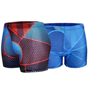 Quick Dry Surfing Swimming Trunks Men's Board Short Mesh Lining Liner Patchwork Beach Swimming Short Sport Workout Shorts Male