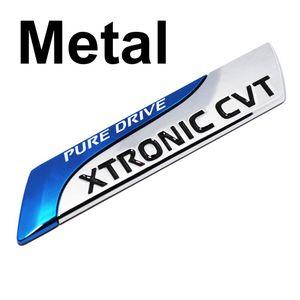 Pour Nissan Métal Pure Drive XTRONIC CVT Nismo Emblem Badge Tail Autocollant QASHQAI X-Trail Juke Teana Tiida ensoleillé Remarque Car Styling