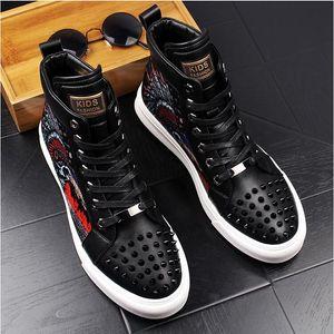 2018 Nouveau style luxe hommes haut Hip-Hop chaussures décontractées hommes noir mode à lacets chaussures Italie mode loisirs pliant conduite mocassins G90