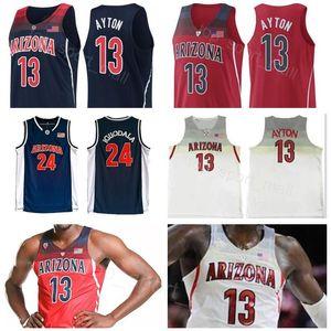 NCAA Arizona Wildcats 13 Deandre Ayton Jersey Mike Bibby 10 Baloncesto del Colegio Blanco 24 Hombre de la Universidad Andre Iguodala Stitched Talla XXL