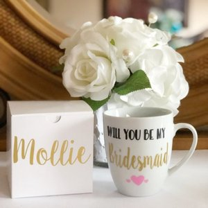 Tazze da caffè personalizzate da damigella d'onore, personalizzate sarai la mia damigella d'onore, regali di Natale, regali di compleanno