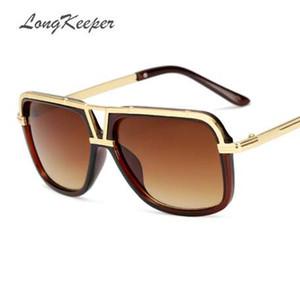 LongKeeper Männer Sonnenbrille Neue Große Rahmen Goggle Sommer Stil Marke Design Sonnenbrille Gafas De Sol UV400 KP18002