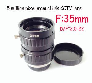 35mm yapay görme mercek düşük distorsiyon 5 megapiksel cctv sanayi lens C montaj