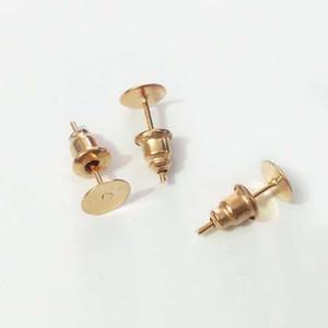 30pcs Earrings Çıtçıt boş taban ayarı tepsi w / Bullet geri tıpa kafa iğneler İğneler Mesajlar Yapıştırma Pad takı yapma bijoux