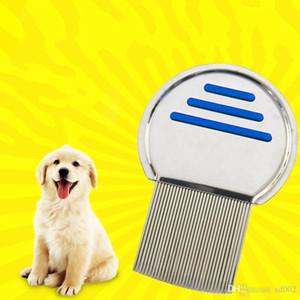 Mini Escova de Remoção de Pêlos Do Cão Anti-derrapante Lidar Com Piolhos Pente Punny Nit Livre Escova de Remoção de Aço Inoxidável Grooming Pet Suprimentos 4 7 ht ZZ