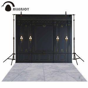 Toptan Fotoğraf Stüdyosu Avrupa Klasik Stil Siyah Duvar Panelleri Için Backdrops Yaldız Aplikler Fotoğraf Ekran Arka Plan