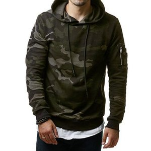 2018New Mens Camouflage ands Sweatshirts Hooded Sweatshirts Male Clothing Fashion Military Hoody For Men Printed Hooie