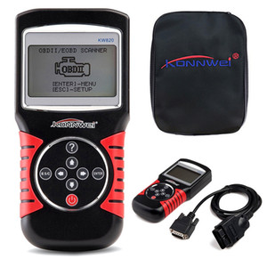 KONNWII KW820 Car Scanner EOBD OBD2 OBDII أداة تشخيص Live Code Reader أدوات المسح الضوئي المتوافقة مع الولايات المتحدة ، السيارة الأوروبية والآسيوية