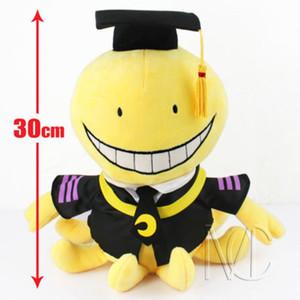 Assassinio aula Korosensei bambole sveglie della peluche farcito i giocattoli della bambola del regalo 30 centimetri giocattolo caldo Nuovo