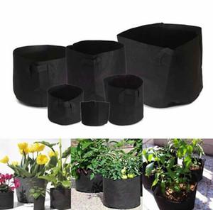 Bitkiler Büyümek için Çanta Büyümek Çanta Toptan dokunmamış Kumaş Saksıları Bitki Kese Kök Konteyner Çiçek / Sebze Büyüyen Saksılar Bahçe Saksıları