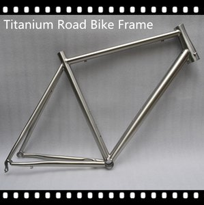 titanium bike frame for road bicycle fashion style titanium alloy gr9 material titanium road bike frame and fork 700C