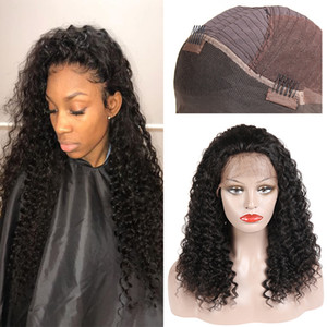 Parrucche ricci crespi capelli umani brasiliani ricci crespi capelli umani parrucche peruviane malese parrucca anteriore del merletto