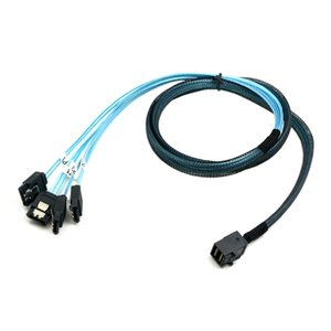 SFF-8088 External Mini-SAS 26p Male To 4x Sata Cable 6Gb//s Transfer 2M