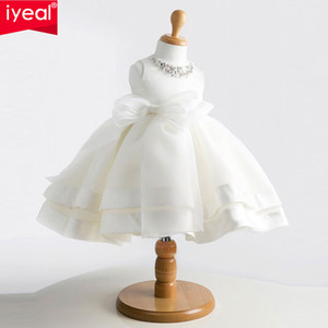 IYEAL Brand New Girls Pageant Kleider Für Baby Kinder Prinzessin Blumenmädchen Kleider Kinder Formale Hochzeit Taufkleid