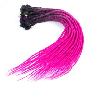 New Fashion 100% Handmade Dreadlocs 5 Roots One Lot Dreadlocks Different Colors for Rop&Rap Crochet Braids Synthetic Hair Extentions