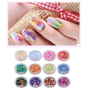 Bling Bling Nail Art Glitter Drop Shapes Konfetti Mix Farbe Pailletten Acryl Tipps Shinny Nail Art Zubehör Dekorationen