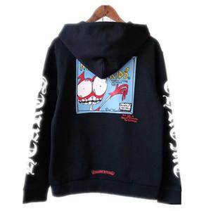 Lettera Graffiti Teschio bambino con cappuccio Felpa con cappuccio caldo pile Felpa Uomo Donna Via Hoody inverno USA Moda S-XL standard