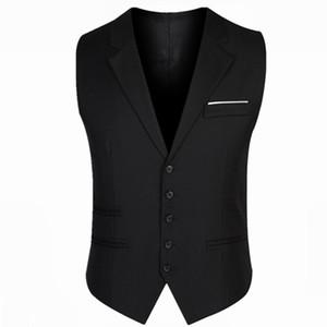 Popüler 2018 yeni moda rahat erkek takım elbise yelek kaliteli damat düğün slim fit iş mens elbise yelekler kolsuz