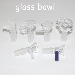 thickness glass bong slides with handle glass bowl 14mm 18mm Male bowls heady slide Smoking Accessory for glass water pipe Bongs oil rigs