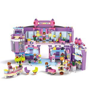 810 unids Legoings Girls Dream Mall Supermercado Building Blocks Juguetes Kit Cumpleaños Regalos de Navidad