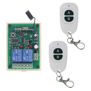 315 433 MHz Universal Wireless Remote Control Switch DC 12V 24V 2CH 2 CH-Relais-Empfänger-Modul HF-Sender