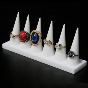 Finger Point Ring Cone Présentoir Acrylique Boutique Bijoux Exhibition Stand Artisanat Anneaux Titulaire pour Foire Marché Booth Magasin Vitrine