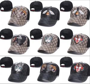 Высокое качество Bee Ball Caps Тигры Snapback Бейсболка открытый гольф Изогнутые козырьки спортивные шляпы кости каске кожаные шляпы для мужчин, женщин