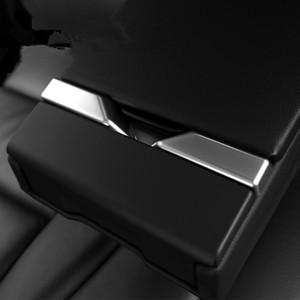 Assento Chrome Styling Rear Braço guarnição Faixa Car Acessórios Cup Água Titular F10 Decoração Lantejoula Para BMW Série 5