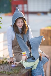 Weihnachtsgeschenke! 8 Farben Koreanische Winter Outdoor knite Schal Pashmina Plain Geändert Warme Schals Hüte Eltern-kind Winter Warme Schal Caps S3