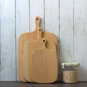 3 dimensioni naturale cucina blocchi taglieri Pallet di pane con manico Tagliere di cottura Tavola di legno Accessori da cucina fatti a mano