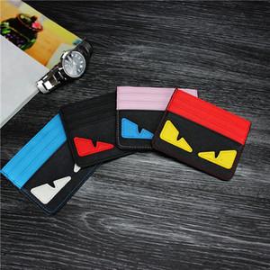 Мультфильм ультра-тонкий ID карты держатель мода Мужчины Женщины кредитной карты держатель маленькие монстры тонкий банк ID карты Case Pocket Bag реальный кожаный бумажник