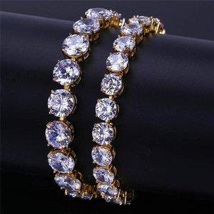 10mm Hiphop Zricon catene per gli uomini di alta qualità placcato oro bracciali marchio di design da uomo hip hop braccialetto di lusso zirconia gioielli spedizione gratuita