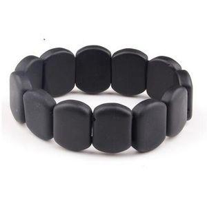 Naturel BIAN Pierre Bracelet Noir 10-14mm Perles bian perlé Bracelets Femmes Hommes Santé Pierre traitement pour améliorer la maladie