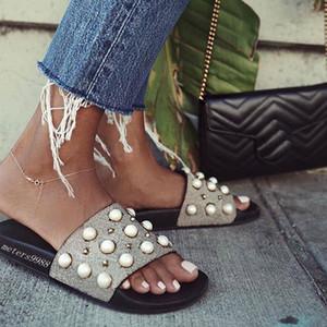 perles de mode embellies sandales Slide hommes et femmes unisex