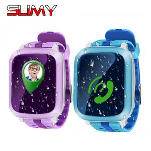 Atacado DS18 Relógio Inteligente Crianças Crianças GPS Do Bebê Relógio de Pulso Localização Rastreador Chamada SOS SMS Suporte 2G Cartão SIM Smartwatch PK Q50 Q90