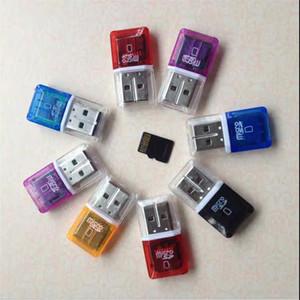 새로운 고속 크리스탈 투명 USB 2.0 TF 플래시 T 플래시 메모리 마이크로 sd 카드 리더 어댑터 2 기가 바이트 4 기가 바이트 8 기가 바이트 16 기가 바이트 32 기가 바이트 64 기가 바이트 TF 카드