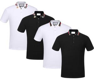 Nagelneue Frühlings-Sommerherbstmänner beiläufiges Polohemdt-shirts Mannpolo-T-Shirts Schlangenbienenstickerei High Street Mens Polos T-Shirt