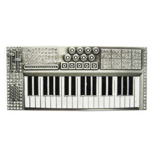 New Bling Bling Rhinestones Piano Music Belt Buckle Boucle de ceinture BUCKLE-MU039