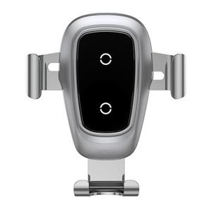 teléfono móvil soporte de carga inalámbrica, sostenedor del coche del teléfono móvil, soporte de gravedad metálico