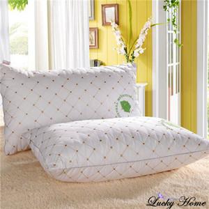 Home textiles almohada blanca almohadas de algodón 100% para la salud del cuello 48 * 74 cm almohadas para dormir súper suave cuello almohada adulto rectángulo