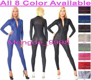 مثير الجسم البدلة ازياء جديد 8 اللون دنة الحرير البدلة catsuit ازياء للجنسين مثير دنة الحرير البدلة ازياء مع الجبهة زيبر m305