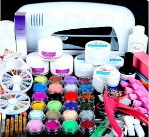 Manucure Set professionnel acrylique Nail Art Salon Fournitures Trousse d'outils avec lampe UV Gel UV Ongles bricolage polonais Ensemble complet