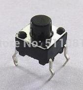 1000pcs 6x6x4.3mm Mikro Inceliğini Dokunsal Push Button Switch IC GB 6x6mm Yükseklik 4,3mm SPST NO transistörü Anahtar