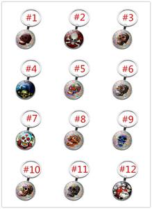 32 Styles skull time gem cabochon key chain Punk style weird skeleton pattern key ring Individuality key rings