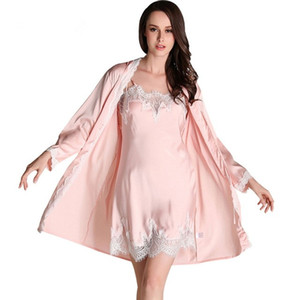 New Women Bridesmaid Robe & Gown Sets Sexy Lace Robe Women's Sleepwear Sleep Suits Women  Pijamas Fashion Nightwear
